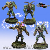 Rotten - Metal Set of 4 Pestigors Lords of Corruption - Willy Miniatures