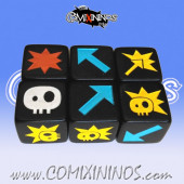 Set of 3 Picasso Block Dice - Large Size 19 mm
