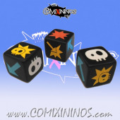 Set of 2 Picasso Block Dice - Large Size 19 mm