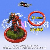 Set of 5 Piling On Skill Rings for 32 mm Bases - Comixininos