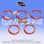 Set of 5 Piling On Skill Rings for 25 mm Bases - Comixininos