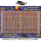 34 mm Pirate Plastic Gaming Mat with BB7 and Crossed Dugouts - Comixininos