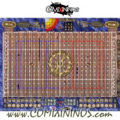 34 mm Pirate Plastic Gaming Mat with BB7 and Parallel Dugouts - Comixininos