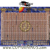 34 mm Pirate Plastic Gaming Mat with Parallel Dugouts - Comixininos