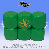 GFI Sprint nº 2 Skill Dice without Dots / Green Color - Meiko
