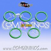 Set of 5 Prehensive Tail Skill Rings for 25 mm Bases - Comixininos
