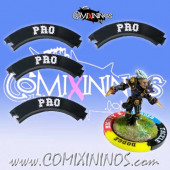 Set of 4 Black Professional Puzzle Skills for 32 mm Bases - Comixininos