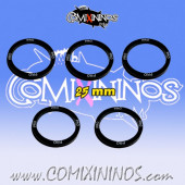 Set of 5 Professional Skill Rings for 25 mm Bases - Comixininos