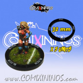 Set of 5 Professional Skill Rings for 32 mm Bases - Comixininos