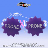 Prone Tokens (Set of 2) - English