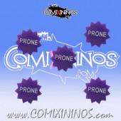 Prone Tokens (Set of 5) - English