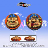 Set of 2 One Sided Prone / Stunned Tokens for Ogres - Chaos Factory