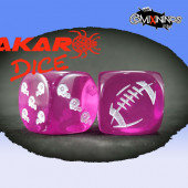 Set of 2d6 Fantasy Football Dice nº 2 Pink - Akaro