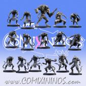 Ratmen - Metal Rat Max Team of 16 Players with Rat Ogre - SP Miniaturas