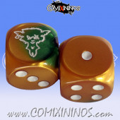 Set of 2d6 Ratmen Dice Set 2 - Meiko