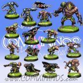 Ratmen - Team of 15 Players with Rat Ogre - Willy Miniatures