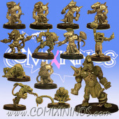 Ratmen - Team of 13 Players with Rat Ogre - Uscarl Miniatures
