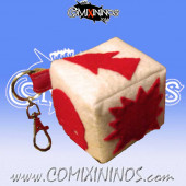 Peluche Block Dice Key Ring RN Estudio - Red