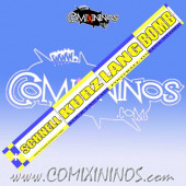 29 mm Range Ruler 1 mm Thick - Yellow and Blue - German