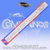 29 mm Range Ruler 1 mm Thick - Red and Blue - Catalan