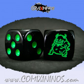 Set of 2d6 Rotten Dice with Demon nº 1 - Meiko