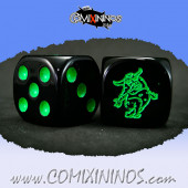 Set of 2d6 Rotten Dice with Demon nº 2 - Meiko