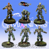Rotten / Undead - Resin Set of 6 Rotters Lords of Corruption - Willy Miniatures