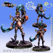 Dark Elves - Rossana Dark Elf Witch Star Player - Meiko Miniatures