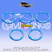 Set of 5 Safe Throw Skill Rings for 25 mm Bases - Comixininos