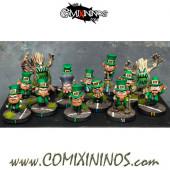Halfling - Saint Patrick's Halfling Team of 16 Players - Games Miniatures