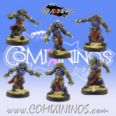 Lizardmen - Set of 6 Draconian Lizaurus - Willy Miniatures