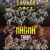 Orcs - Savage Orcs Full Team and Coaching Staff with 38 Miniatures - Punga Miniatures