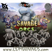 Orcs - Toa Orc Team of 16 Players with Whale Troll - Punga Miniatures