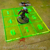 Fantasy Football Scatter Template for 34mm Pitches - Fluorescent Green