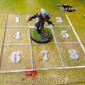 Fantasy Football Scatter Template for 34mm Pitches - Transparent