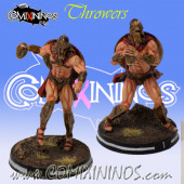 Norses / Humans - Set of 2 Spartan Throwers - Meiko Miniatures