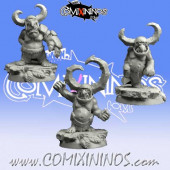 Ogres / Goblins - Set B of 3 Tinies or Goblins - Scibor Miniatures