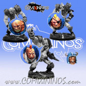 Set B of 4 Ogre Heads - Meiko