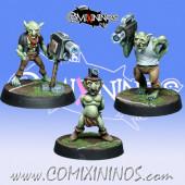 Goblins / Orcs -  Set of 3 Camera Goblin Miniatures - NAW Miniatures