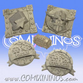 Set of 4 Dwarf Tokens and Football - SP Miniaturas