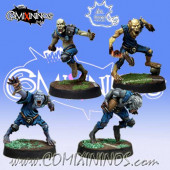 Undead / Necromantic - Set of 4 Ghouls - Meiko Miniatures