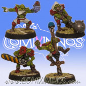 Goblins - Set of 4 Indiegogo Goblins with Secret Weapons - Willy Miniatures