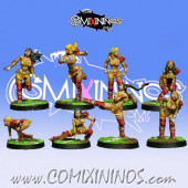 Amazons - Set of 8 Amazon Linewomen - Willy Miniatures