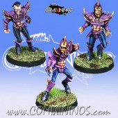Dark Elves - Set A of 3 Dark Elf Linemen - Meiko Miniatures