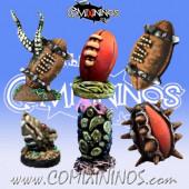 Set B of 6 Footballs - Meiko Miniatures
