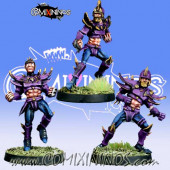 Dark Elves - Set B of 3 Dark Elf Linemen - Meiko Miniatures