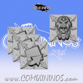 Set of 4 Evil Pact Tokens - Willy Miniatures