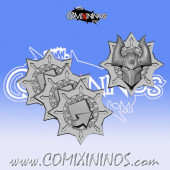 Set of 4 Evil Tokens - Willy Miniatures