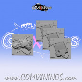 Set of 4 Ratman Tokens - Willy Miniatures