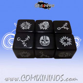 Set of 2 Squared Corners Black Block Dice